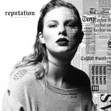 Taylor Swifts Album Cover for Reputation
