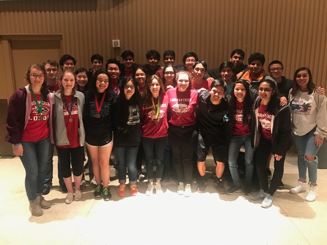 The Science Olympiad team poses for a photo at the invitational.