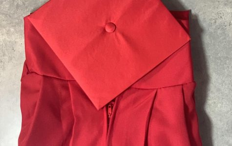 your marvelous red sleek cap and gown