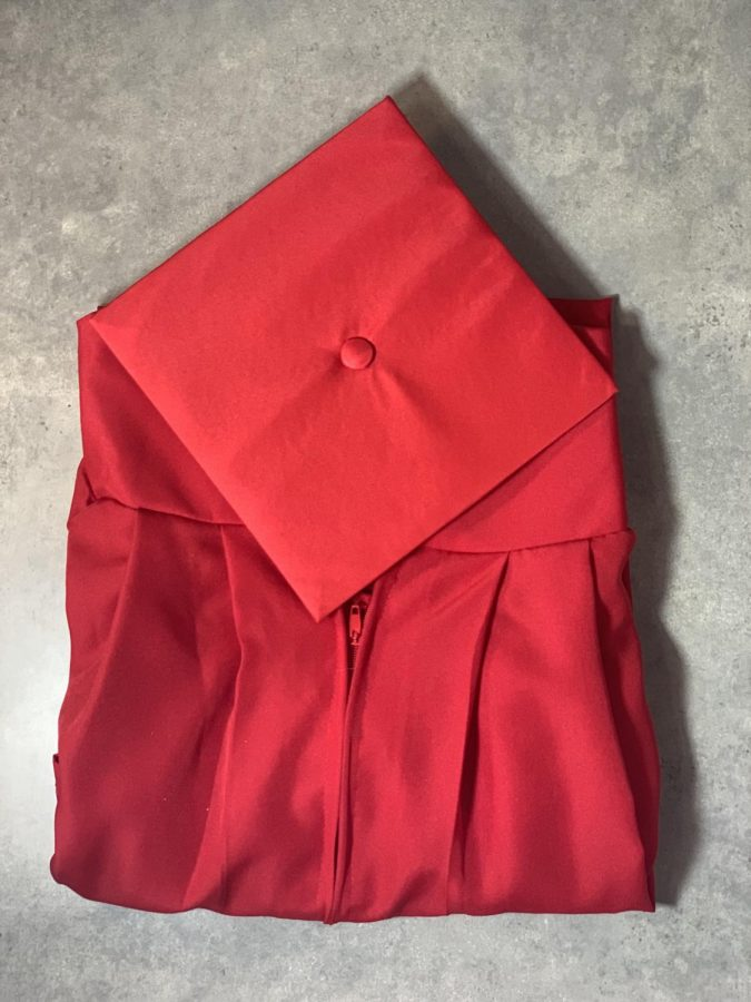 your+marvelous+red+sleek+cap+and+gown