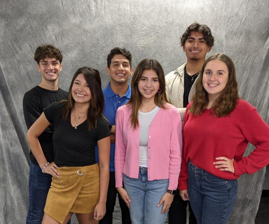 Homecoming Nominees (from left to right) Luca Barrio, Emilio Rodriguez, Jesus Martinez, Analiese Restrepo , Raquel Montemayor, and Kylie Galvan